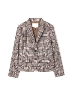 ◆大きいサイズ◆グレンチェックテーラードジャケット