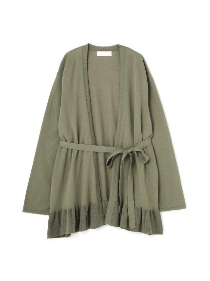 70%OFF Aylesbury (アリスバーリー) ◆大きいサイズ◆裾フリルカーディガン カーキ(180)