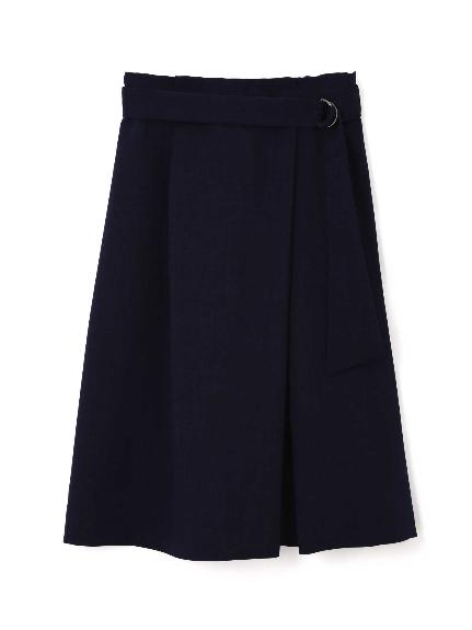 70%OFF Aylesbury (アリスバーリー) ◆大きいサイズ◆リネンライクラップ風スカート ネイビー(120)