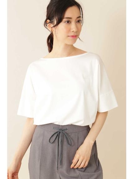 30%OFF 22 OCTOBRE (ヴァンドゥーオクトーブル) ◆[Weekend Line][洗える]クルーネックTシャツ ホワイト(030)