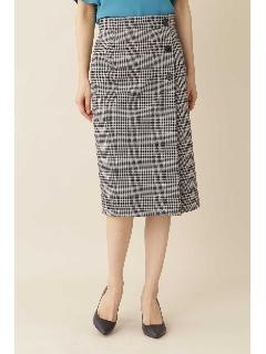 [ウォッシャブル]◆グレンチェックジャージースカート