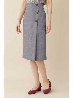 [洗える]T/Wデニムライクタイトスカート