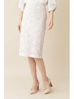 [ウォッシャブル]◆[洗える]エレーヌレーススカート