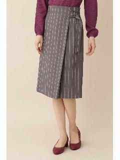 ◆[TV着用][洗える]TRストライプスカート