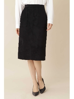 ◆[TV着用]スエードタイトスカート