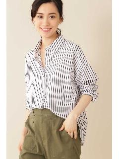 [Weekend Line]ジャージーシャツ(ストライプ)