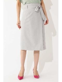 [ウォッシャブル] 麻調ラップスカート