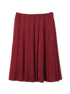 広幅プリーツサテンスカート