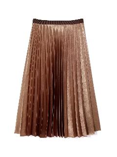 ◆大きいサイズ◆箔サテンプリーツスカート