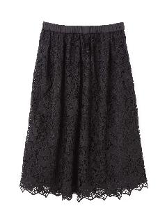 ◆大きいサイズ◆大花ケミカルレーススカート