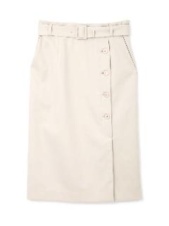 ◆大きいサイズ◆50/2サテンストレッチスカート