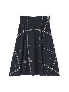 チェックプリントスカート