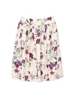 ◆大きいサイズ・洗える◆オーバーラップドフローラルプリントスカート《Purpose》