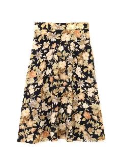 ◆大きいサイズ・洗える◆デジタルフラワースカート《Purpose》