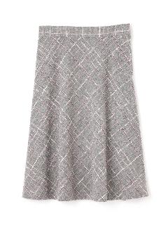 ◆大きいサイズ◆カラーチェックツィードスカート