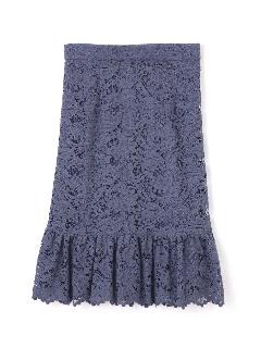 ◆大きいサイズ◆コードラッセルレーススカート