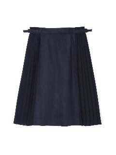 ◆大きいサイズ◆エルモザスエードサイドプリーツフレアスカート