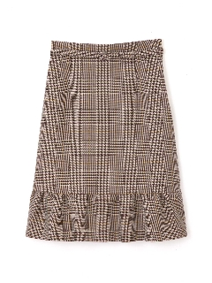 ◆大きいサイズ◆グレンチェックペプラムスカート