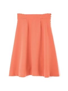 ◆大きいサイズ◆釦ディティールフレアスカート