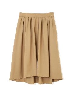 ◆大きいサイズ◆タックギャザーふんわりカラースカート