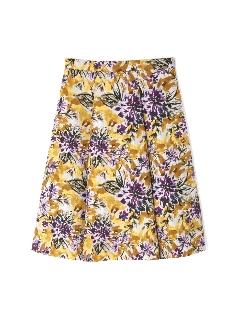 ◆大きいサイズ◆ジャガードグランドフラワープリントスカート《Purpose》