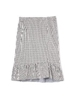 ◆大きいサイズ◆ガンクラブチェックジャガードスカート