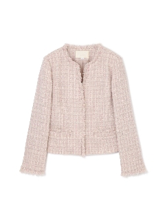 ◆大きいサイズ◆ミックスツィードジャケット