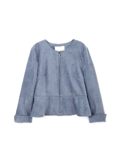 ◆大きいサイズ◆エルモザスェードジャケット