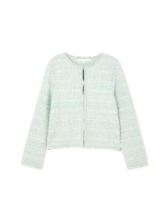 ◆大きいサイズ◆ラーツイードニットジャケット