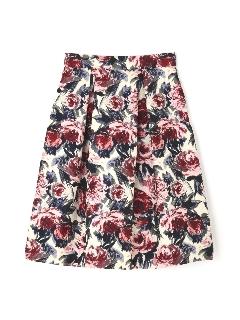 《Purpose》ローズ柄スカート