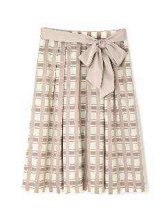 ラメチェックジャガードスカート