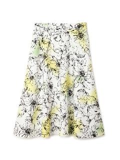 ◆大きいサイズ◆カラースプレーフラワースカート