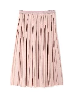 ◆大きいサイズ◆コットンライクジャージィプリーツスカート