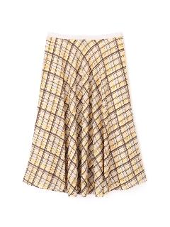 [ウォッシャブル]シアーチェックフレアースカート