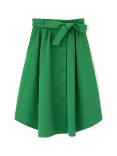 トロポリーフロントボタンスカート