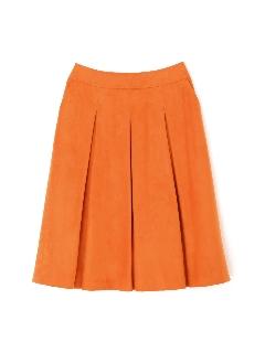 エルモザスエードボックスプリーツスカート