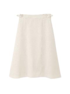 リネンライクツイルフレアーラップスカート