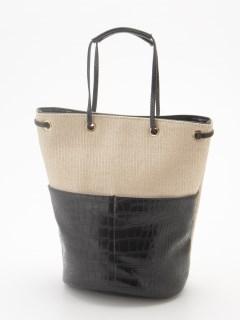 PP&アニマルコンビ巾着縦長トートバッグ
