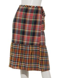 Gインドマドラスラップスカート