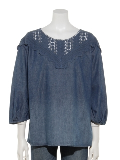 DENIM LACE BROUSE