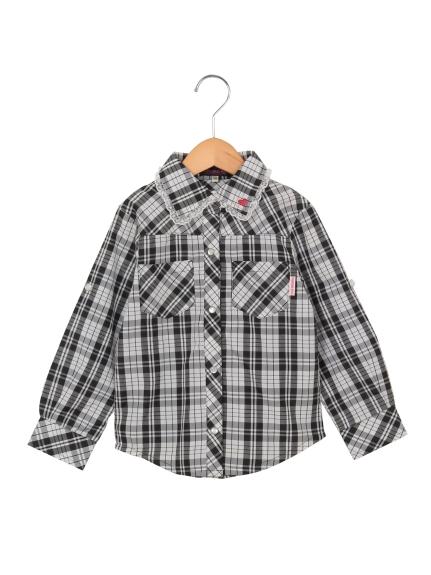 POMONAKISS (ポモナキッス) チェックシャツ シロ