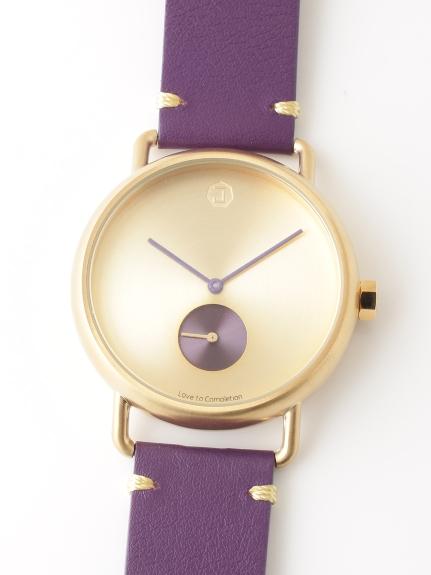 JAIDEN Classic (ジャイデンクラシック) 【ユニセックス】腕時計LunaGoldルナゴールド パープル