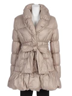ショールカラー中綿コート
