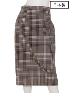 【日本製】チェックタイトスカート