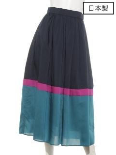 【日本製】ローンカラー切り替えスカート