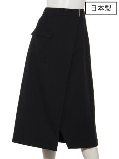 【日本製】麻混ドライツイルラップスカート