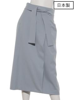 【日本製】両面起毛ラップ風スカート