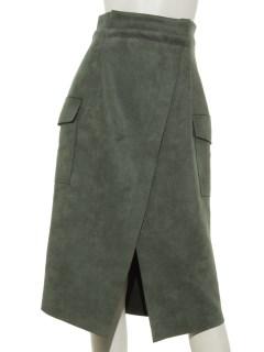 スエード ラップスカート