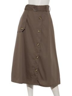 トレンチフレアースカート