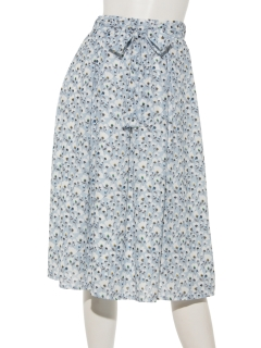 小花プリントギャザーフレアースカート